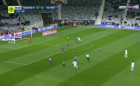 Embedded thumbnail for But de Bassem Srarfi ● FC Toulouse vs OGC Nice ● min 91'